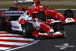 Mika Salo y Michael Schumacher
