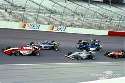 Arie Luyendyk Jr. leads a group of cars