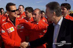 Michael Schumacher and Piero Ferrari