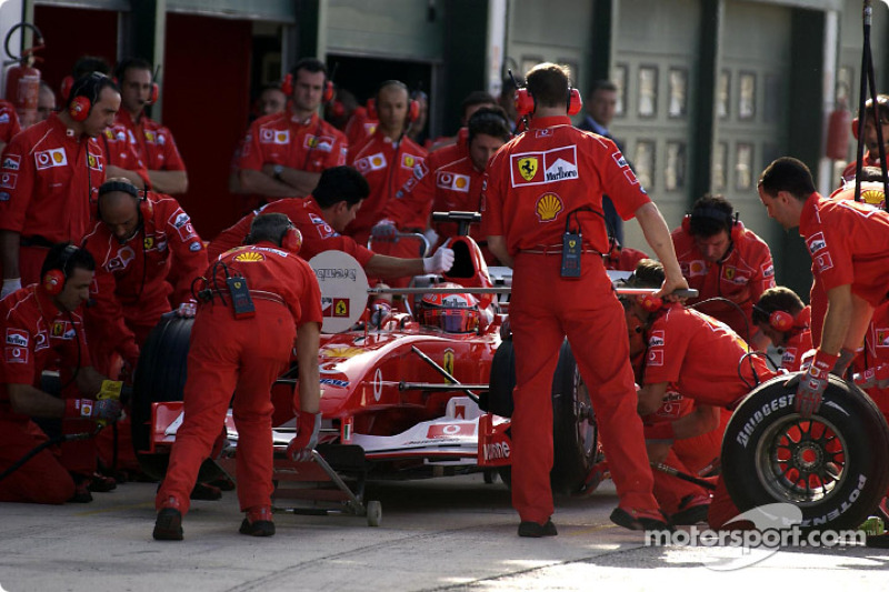 Pitstop for Michael Schumacher