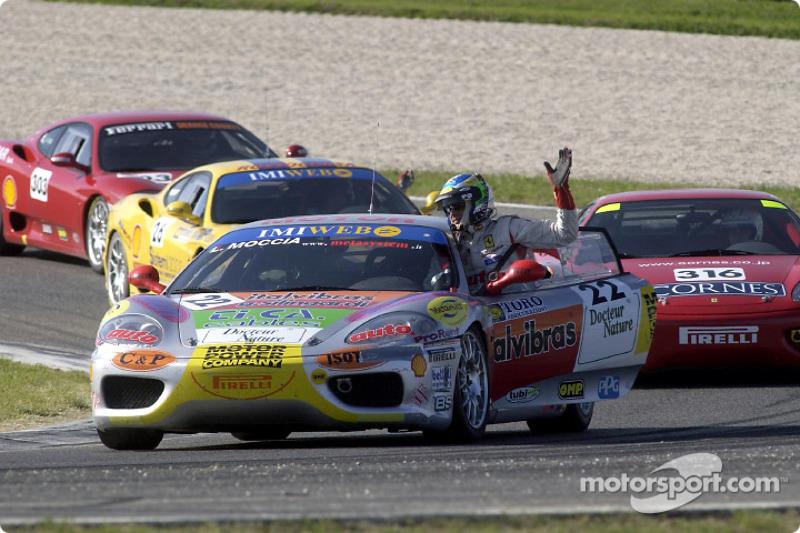 360 Challenge Finals: race winner Luigi Moccia