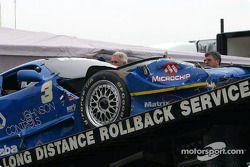 Paul Gentilozzi's wrecked car