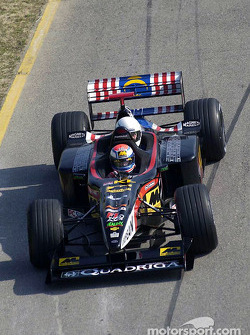 Matteo Bobbi in the Minardi twin-seater