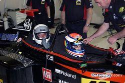 Matteo Bobbi in the Minardi twin-seater
