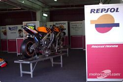 La moto Honda del Campeón Mundial, Valentino Rossi