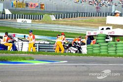 Sturz: Alex Barros, Pons Honda