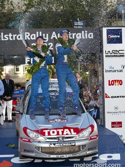 The podium: winner Marcus Gronholm
