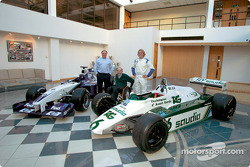 Patrick Head, Frank Williams and Nico Rosberg
