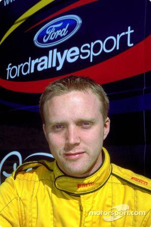 El copiloto del equipo juvenil Ford Rallye Sport, Glenn Patterson