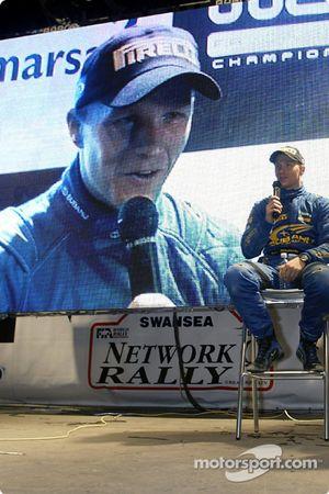 Petter Solberg en conferencia de prensa tras la segunda jornada