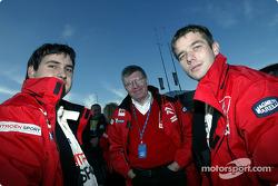 Daniel Elena, Jean-Claude Vaucard y Sébastien Loeb