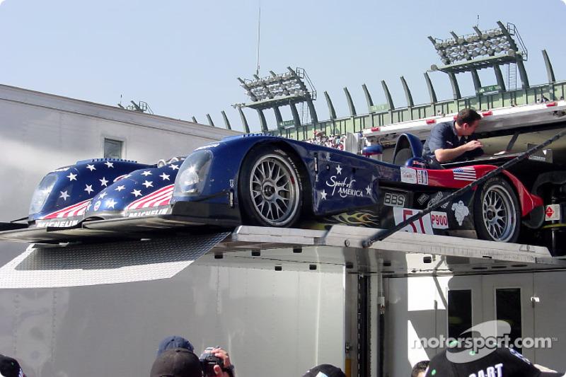 ALMS Panoz car on demonstration