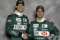 Antonio Pizzonia et Mark Webber, Jaguar