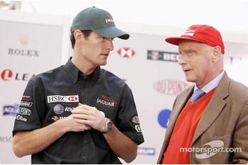 Mark Webber and Niki Lauda