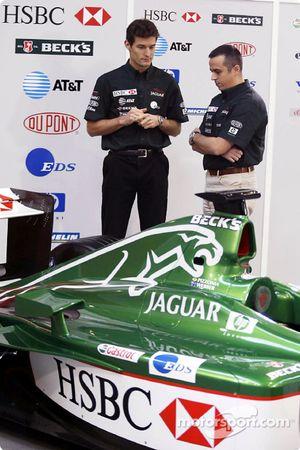 Mark Webber ve yarış mühendisi Stefano Sordo
