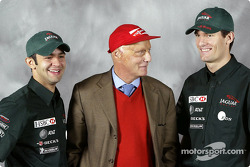 Antonio Pizzonia, Niki Lauda y Mark Webber