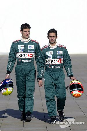 Mark Webber y Antonio Pizzonia