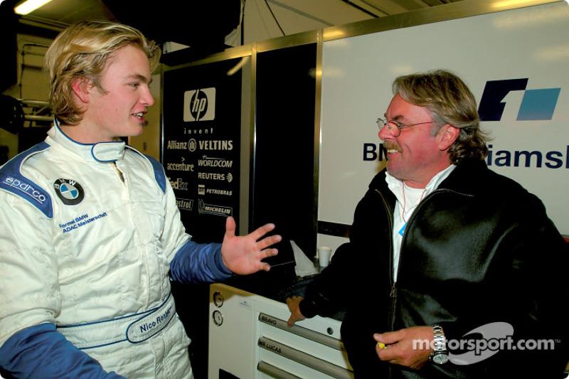 Нико Росберг со своим отцом Кеке