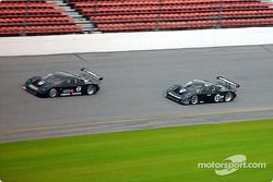 Darius Grala out first in the #2 Cegwa Sport Toyota-FABCAR and Hurley Haywood in the Brumos-FABCAR