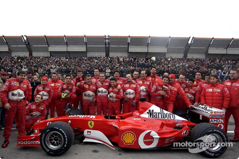 Luciano Burti ve Ferrari team