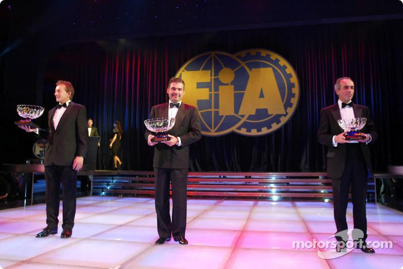 El ganador del FIA European Truck Racing, Egon Allgauer, el ganador del Super Race Trucks, Gerd Körb
