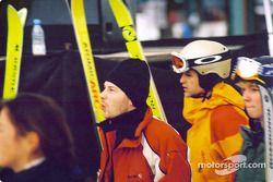 Jacques Villeneuve gets ready to hit ski slopes