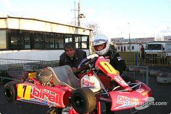 Donatella Di Giorgio and mechanic Franco