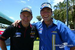 2003 presentation by Stone Brothers Racing of new Ford Caltex Havoline Falcon: Russell Ingall and Marcos Ambrose