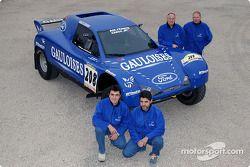 Présentation Schlesser Ford X 202 : Jean-Louis Schlesser, Jean-Marie Lurquin, José Maria Servia et Enric Oller-Carbo