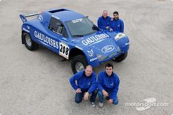 Présentation du Schlesser Ford X 202 : Jean-Louis Schlesser, Jean-Marie Lurquin, José Maria Servia et Enric Oller-Carbo