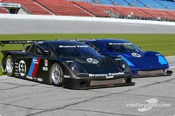 The two Brumos Porsche-FABCAR cars