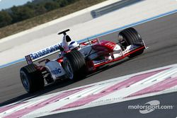 Toyota TF103 action: Olivier Panis
