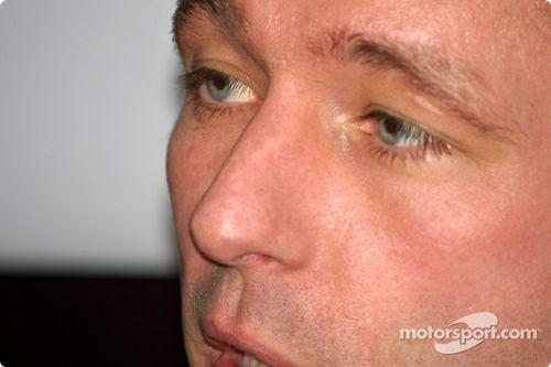 Conférence de presse Minardi pour Jos Verstappen à Rotterdam