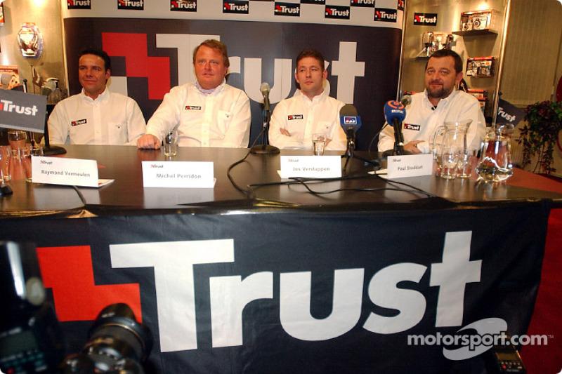 Raymond Vermeulen, Michel Perridon, Jos Verstappen and Paul Stoddart