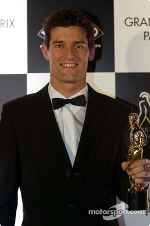 Mark Webber won the Best Newcomer Award