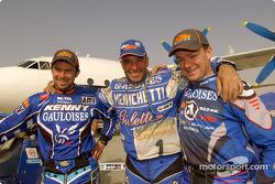 Cyril Despres, Fabrizio Meoni and Richard Sainct