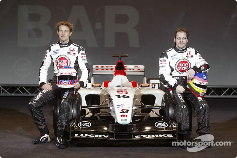 Jenson Button and Jacques Villeneuve