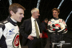 Anthony Davidson, Geoffrey Willis y Jenson Button