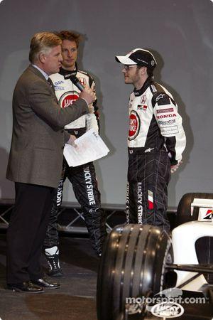 Jenson Button et Jacques Villeneuve