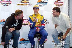 Dale Earnhardt Jr., John Andretti y Tony Stewart