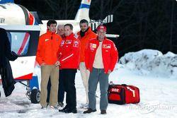 Luciano Burti y Rubens Barrichello
