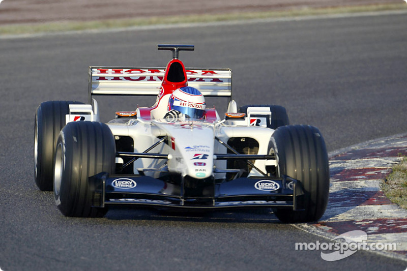 Shakedown for yeni BAR Honda 005: Jenson Button