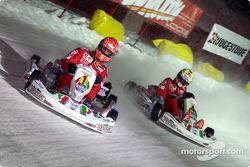 La carrera de karts: Michael Schumacher y Luciano Burti