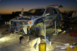 BMW X5 Rally Raid Team bivouac