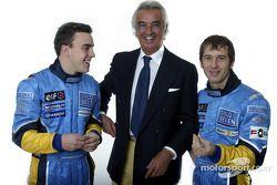 Fernando Alonso, Flavio Briatore y Jarno Trulli