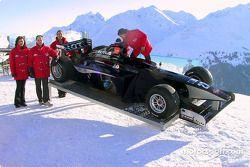 The racecar on the mountain