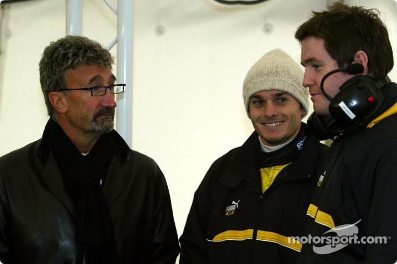 Eddie Jordan y Giancarlo Fisichella