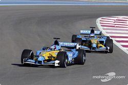 Jarno Trulli en Fernando Alonso in 2003
