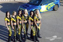 Las siempre encantadoras chicas Pirelli