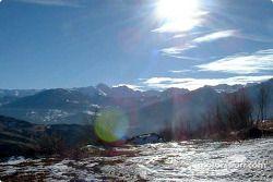 Hermosa foto de montaña